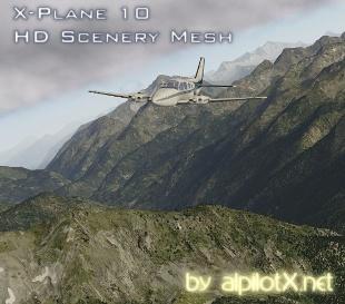 X-plane 10 HD Mesh Scenery
