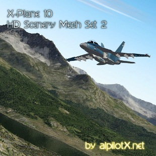 X-Plane 10 HD Mesh Scenery Set 2