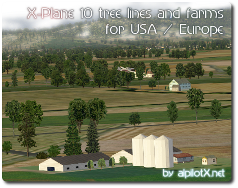 X-Plane 10 Tree Lines and Farms Download