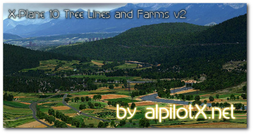 X-Plane 10 Tree Lines and Farms V2