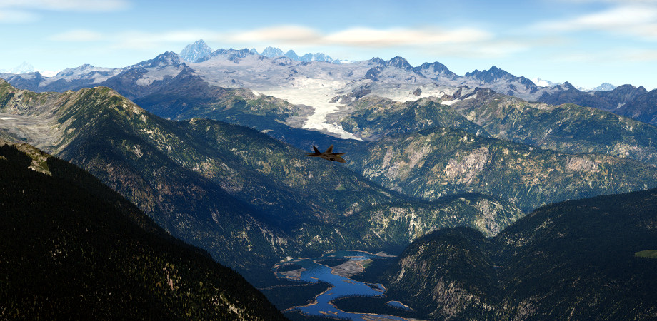 PREVIEW video: X-Planeplane10 HD Mesh Scenery v3 (region: Canada)