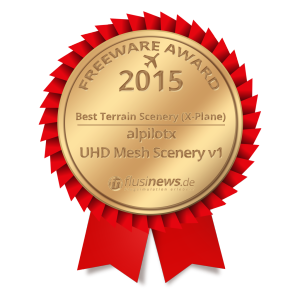 UHD Mesh Scenery v1 wins flusinews.de Freeware Award 2015!