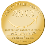 HD Mesh Scenery V2 wins flusinews.de Freeware 2013 Award in the X-Plane scenery section!