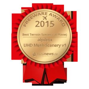 UHD Mesh Scenery v1 wins flusinews.de Freeware Award 2015!